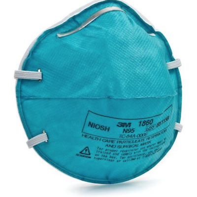 *Fda Approved* 3M 1860 N95 Adult Particulate Respirator & Surgical Pack Of 5 Pcs