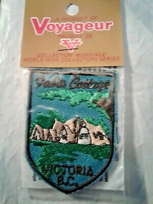 Fable Cottage Victoria, British Columbia Canada Embroidered Patch
