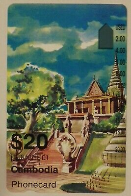 Rare Telstra OTC International $20 Cambodia Phonecard MINT prefix 1565