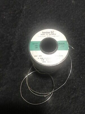 Kester Solder Wire Sn96.5Ag3Cu0.5 3% Silver 0.8 mm No-Clean Lead Free 3 Metres