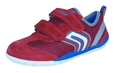 Geox J Trifon B Boys Trainers Casual Comfortable Durable Sports Shoes Straps Red