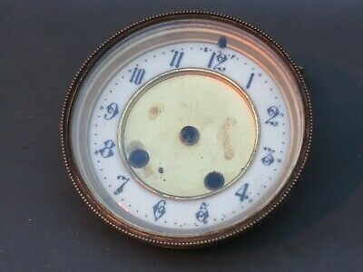 Vintage brass clock front door with bevelled glass & chapter ring - spares parts
