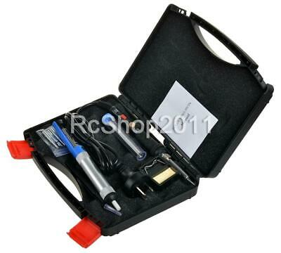 60W Electric Soldering Iron Kit Solder Welding Rework Tool Stand 6 Tips Safe