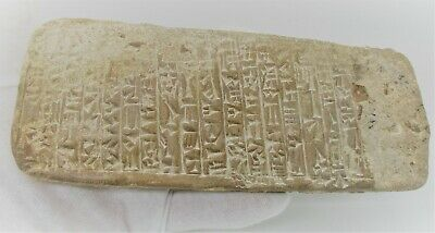 Circa 3000 Bce Near Eastern Clay Tablet With Early Form Of Writing Rare