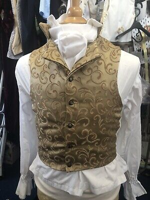 Regency Style Waistcoat In Shades Of gold And Rust Brocade