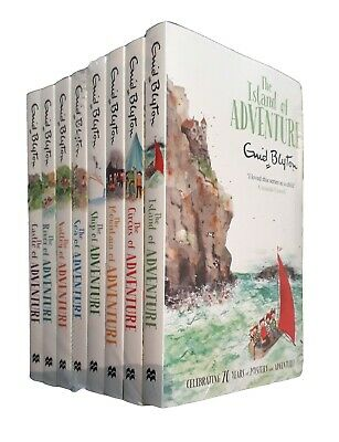 Enid Blyton Adventure Series 8 Books Island Circus Ship Kid Girl Children New
