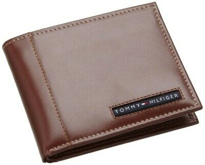 Tommy Hilfiger Classic Mens Leather Ranger Passcase Wallet Tan