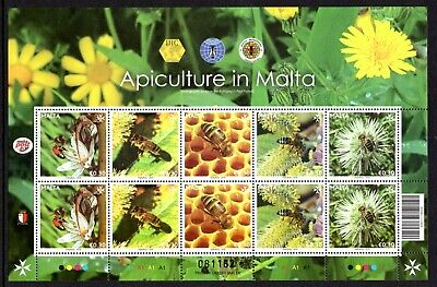Malta 2019 Apiculture in Malta  Sheet - Bees - Unmounted Mint
