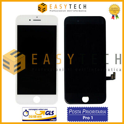 Display Schermo Per Apple Iphone 7 Bianco Nero Touch Screen Lcd Gls O Posta