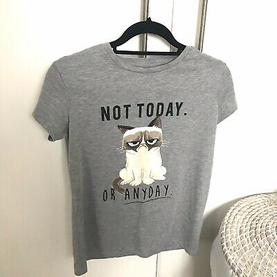 Ladies Primark Grumpy Cat Monday to Sunday Faces Nightwear Sweatshirt bnwt