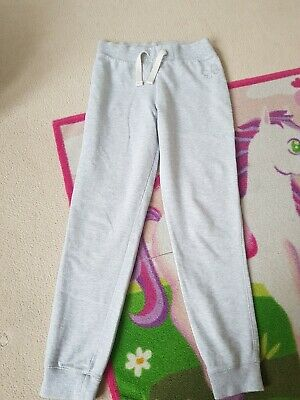 Girls Next Grey Elasticated Waist Comfy Cuffed Casual Joggers Age 9 years