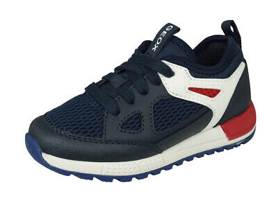 Geox J Alben B. D Boys Trainers Comfortable Casual Sports Shoes Navy-Blue