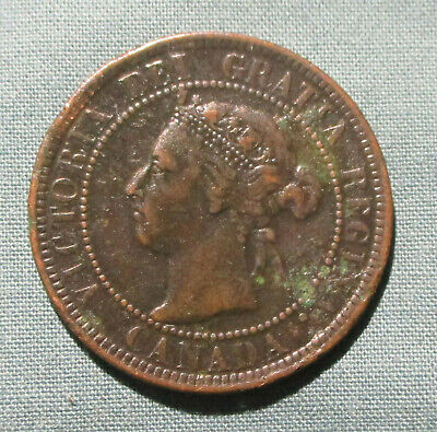 CANADA 1900-H Large Cent - 1 penny coin