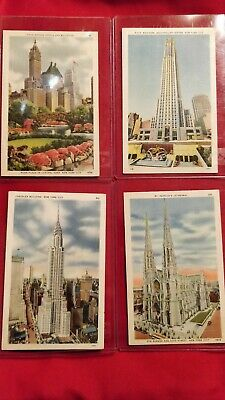New York City Architecture Collection Postcards Lot of 4 Vintage Near Mint