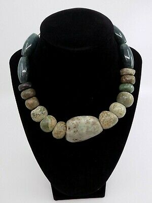 Pre-Columbian Jade Bead Necklace