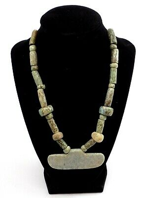 Pre-Columbian Jade Pendant Necklace