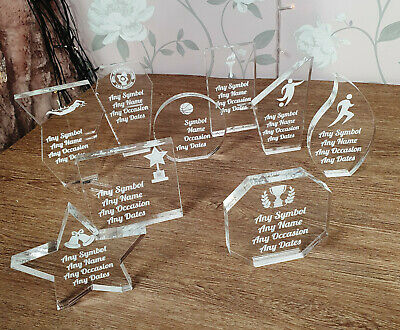 Personalised Glass Award Trophy Award Plaque, Various Trophies and styles