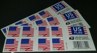 20 FOREVER STAMPS - First-Class Mail Forever US Flag Double-Sided Booklet of 20
