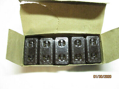 Leviton Electric No. 203 Bakelite Surface Mount Outlet Box of 10 NOS Art Deco