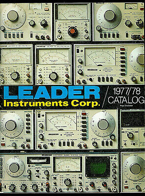 1977-78 Leader Instruments Catalog Oscilloscopes Meters Testers Probes & More