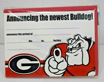 Fantastic Cards Georgia Bulldogs Announcing the Newest Bulldog Baby Announcement