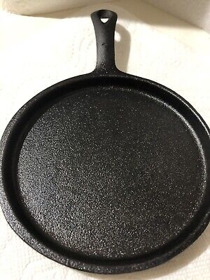 CAST IRON FLAT  PAN  See Pic Believe No3 See Pic Bin /best Offer