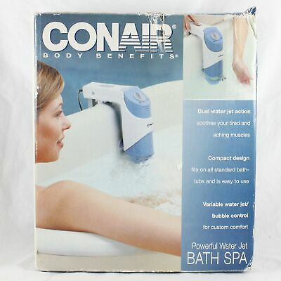 Conair Dual Jet Bath Spa BTS1D Body Benefits Powerful Water Jets NEW DAMAGED BOX