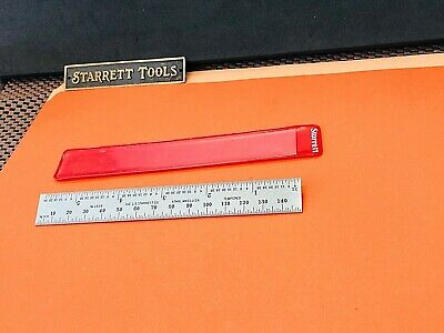 "STARRETT No.636ME-150 150MM   5 -3/4"" Spring-Tempered Steel Rule; mm & Inch Grad"
