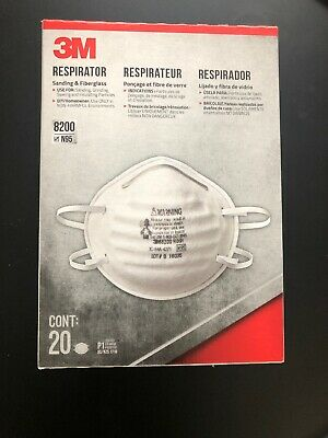 3M 8200 N95 Safety Mask Original Respirator (20/box) NIOSH Approved Made in USA