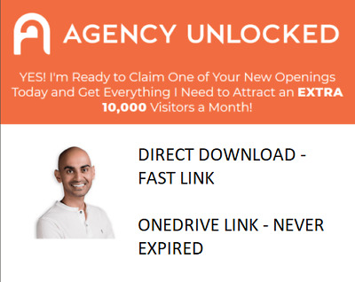 Neil Patel – Agency Unlocked [FULL COURSE] - [DIRECT DOWNLOAD] - [FAST LINK]