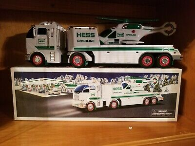 2006 Hess Truck Toy Truck & Helicopter W/ Box - Mib