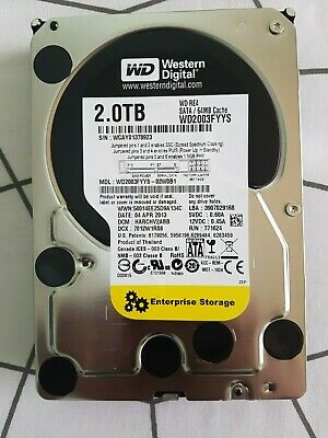 "WD RE4 WD2003FYYS 2TB 64MB Cache 7200RPM SATA 3.0Gb/s 3.5"" Enterprise Hard Drive"