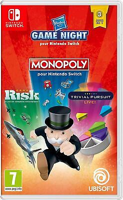 Hasbro Game Night Switch NEUF Version Fr MONOPOLY+ RISK +TRIVIAL PURSUIT