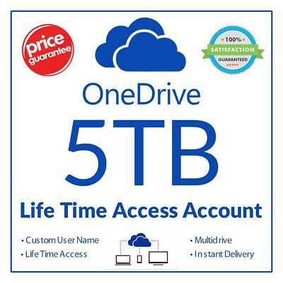 OneDrive 5TB LifeTime Account - Fast Delivery - Custom Login - Free Replacement