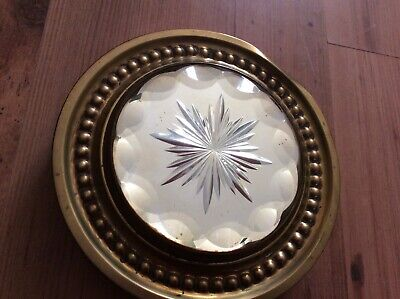 Victorian Mirrored Stand, Brass Edged,RD Number 318706,quality