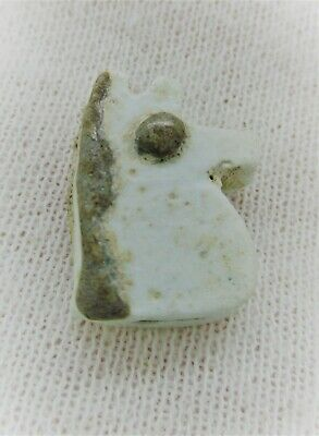 Ancient Egyptian Faience Eye Of Horus Amulet Circa 664-332Bce