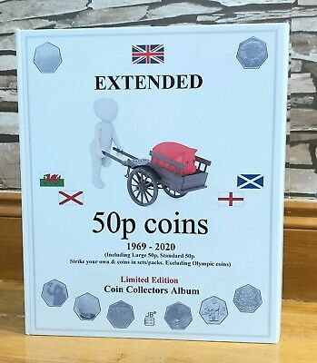 50p 1969-2020 EXTENDED, large 50p, strike your own, sets, EXCL.OLYMP - ALBUMONLY