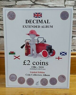 NEW! £2 TWO POUND 1986-2020 EXTENDED COIN ALBUM. NO COINS! incl sets, excl. SYO