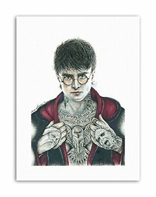 HARRY POTTER DANIEL RADCLIFFE INKED IKON BY W.MAGUIRE Canvas art Prints