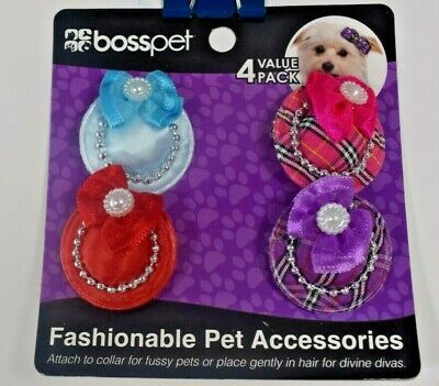 Boss Pet - Fashionable Pet Accessories (Attach to Collar or Hair) Pet/Dog