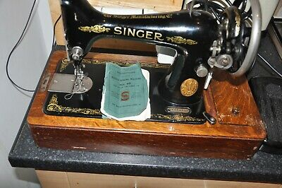 Vintage Singer 99 Sewing Machine Converted to Electric c1917, GWO