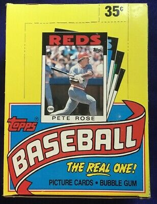 1986 Topps Baseball Wax Pack Box (36 Sealed Packs)