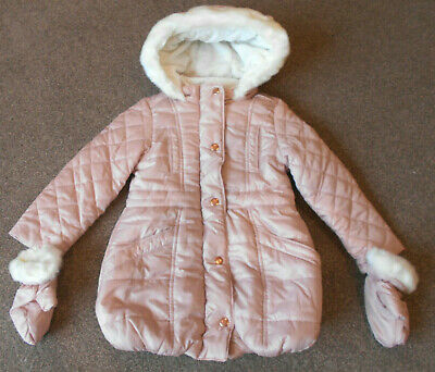 Baker by Ted Baker Quilted Parka Age 3-4yrs Light Pink BNWT   8/28