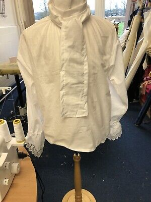 Georgian/ Regency Shirt With Lace Flounced Cuffs And Free Neckcloth