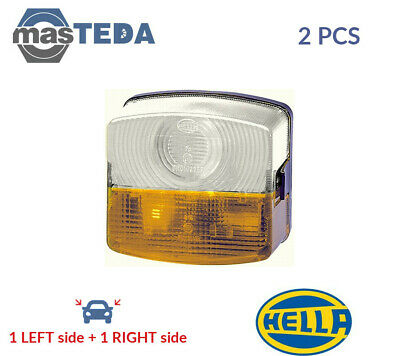 2x HELLA INDICATOR LIGHT BLINKER LAMP PAIR 2BE 003 182-101 I NEW OE REPLACEMENT