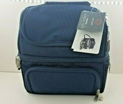 ONIVA - a Picnic Time Brand Pranzo Insulated Lunch Tote, Navy-NEW