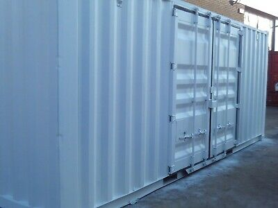 20 foot by 8 foot shipping container with side doors