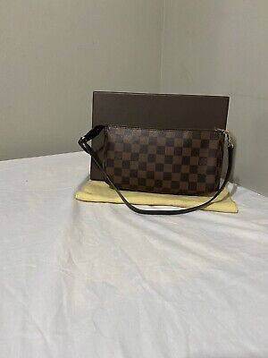Authentic Louis Vuitton Damier Ebene NM Pochette Accessories Shoulder Bag Pouch