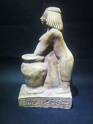 EGYPTIAN ANTIQUE ANTIQUITIES Woman Brewing Beer Statue Sculpture 2500-2350 BC