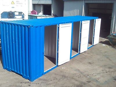 MULTI ROOM STORAGE CONTAINER, 3 x 10foot rooms